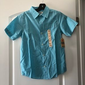 NWT Boys Urban Pipeline Blue Button Up Shirt